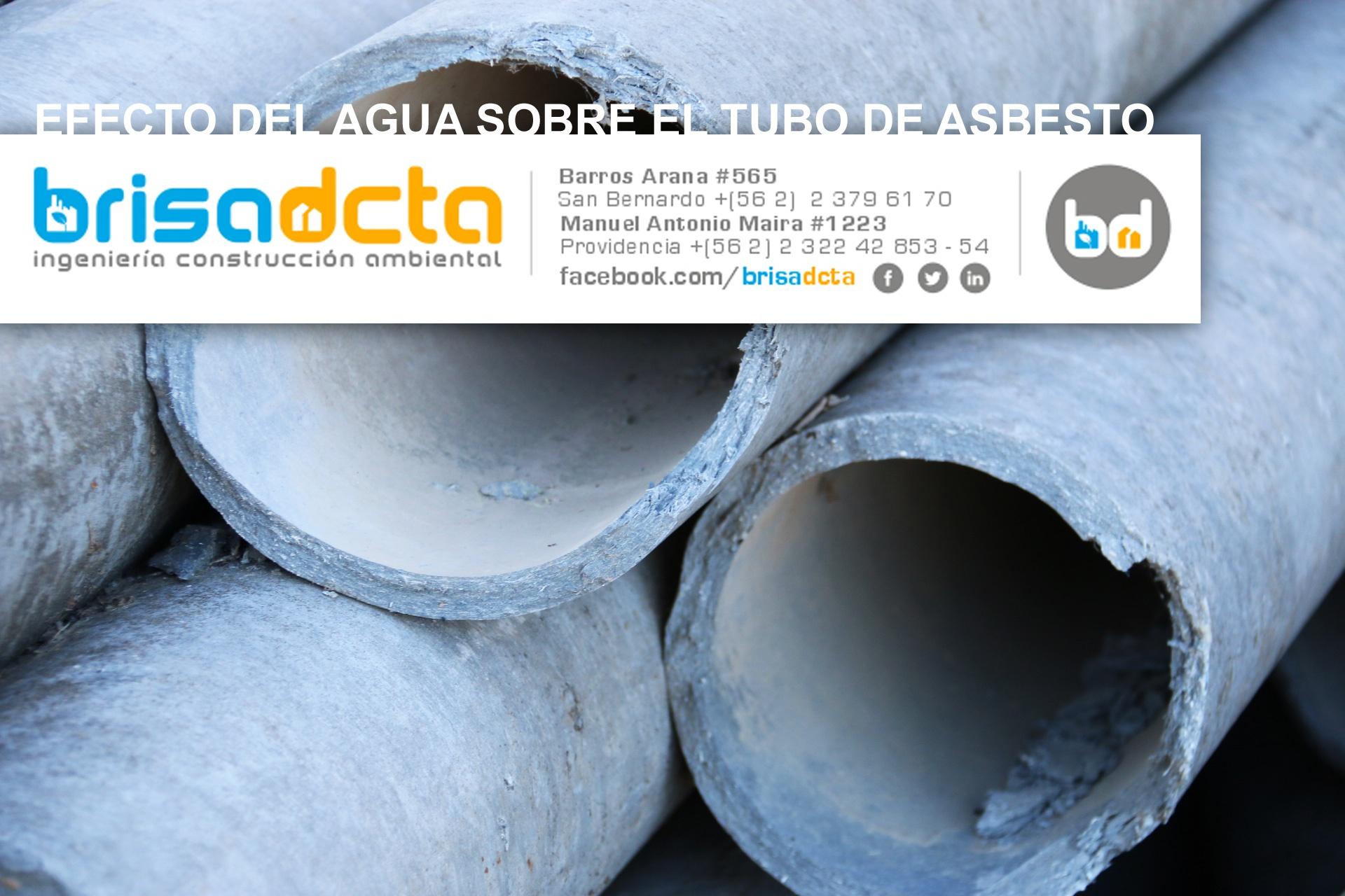 Efecto del agua sobre el tubo de asbesto brisa for Fibrocemento sin amianto